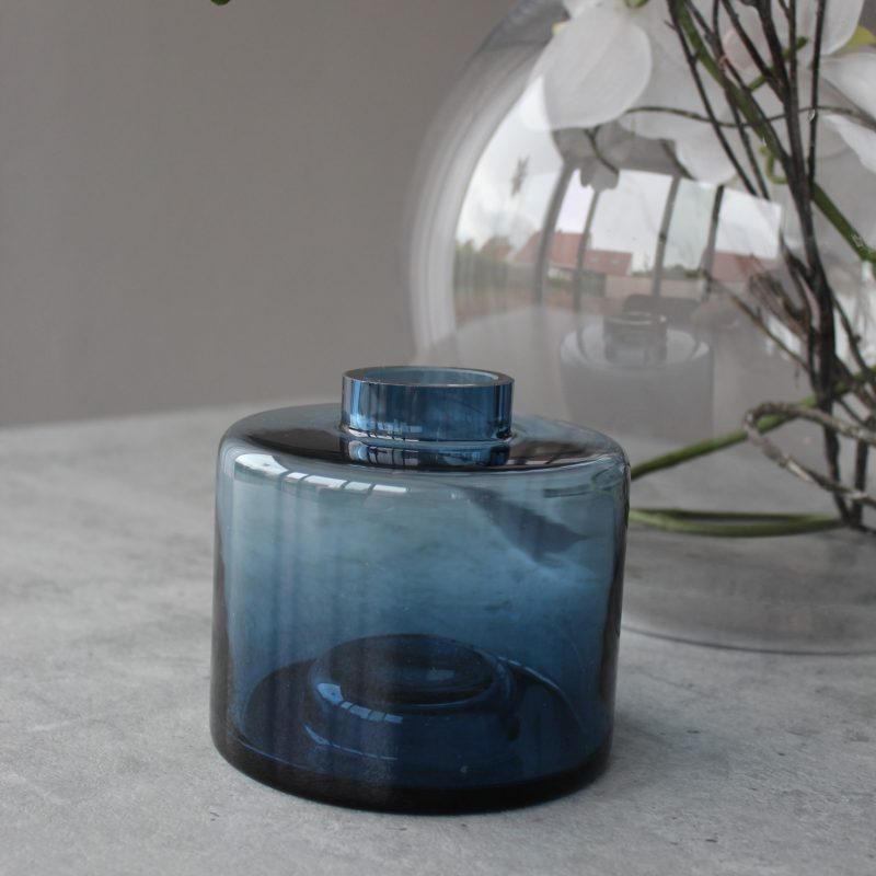 vase glas blau 2er set von h bsch interior ms interior. Black Bedroom Furniture Sets. Home Design Ideas